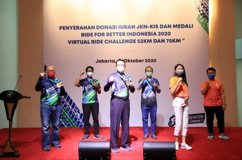 Direkur Utama BPJS Kesehatan Raih Virtual Ride for Better Indonesia (27/11)